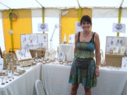 Me at a craft fair in Aberaeron